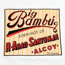 Big Bambu Logo on White T-Shirt