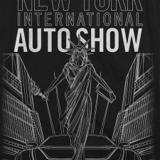 2013 NYIAS Liberty Faded Edges on Black T-Shirt