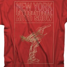 NYIAS Gold Liberty T-Shirt on Red