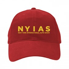 2014 NYIAS Embroidered Metallic Gold on Red Hat
