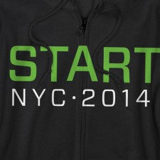 2014 NYIAS Start NYC on Black Zip-Up