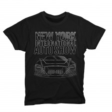 NYIAS Gel Car on Black T-Shirt