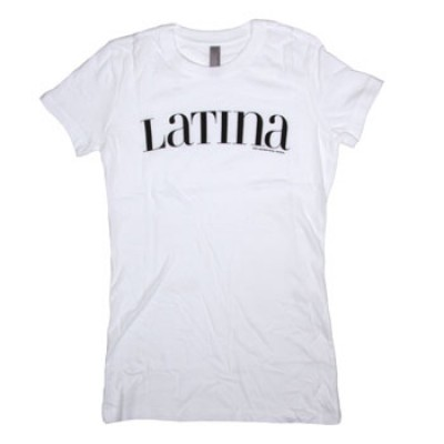 Latina Women's Black Logo on White