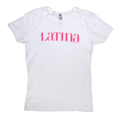 Latina Women's Pink Logo on White