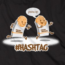 #Hashtag on Black T-Shirt