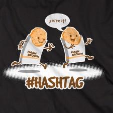 #Hashtag on Black T-Shirt