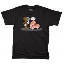I Bust Chops on Black T-Shirt