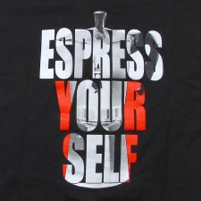 Espress Yourself Women's V-Neck on Black