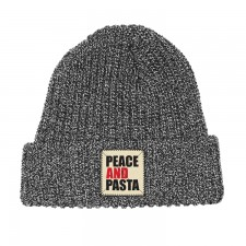 Peace and Pasta Gray Beanie