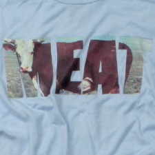 Meat on Light Blue T-Shirt