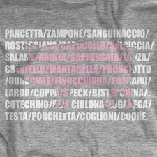 The Tuscan Pig on Grey T-Shirt
