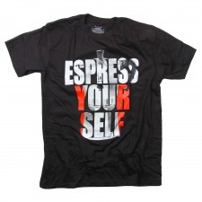 Espress Yourself on Black T-Shirt