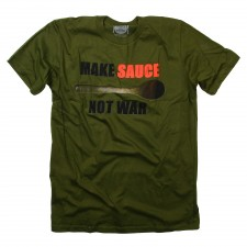 Make Sauce Not War on Green T-Shirt