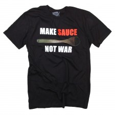 Make Sauce Not War on Black T-Shirt