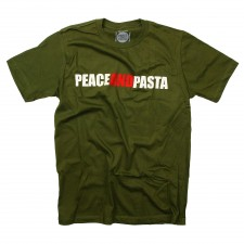 Peace and Pasta on Green T-Shirt