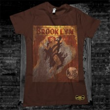 Eve Women's T-Shirt on Brown