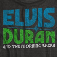 Elvis Duran Distressed Logo on Black T-Shirt