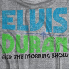 Elvis Duran Distressed Logo on Heather Grey T-Shirt