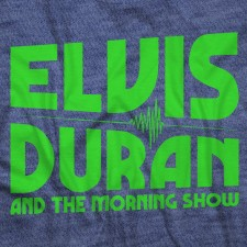 Elvis Duran Neon Logo on Heather Navy T-Shirt