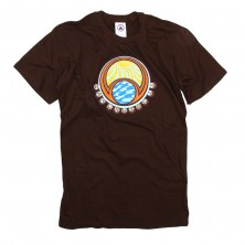 Men's Bubbles T-Shirt on Brown