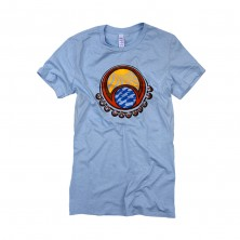 Women's Bubbles T-Shirt on Light Blue