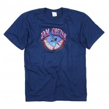 Men's Earth T-Shirt on Dark Blue