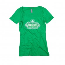 Women's Palm Crest T-Shirt on Kelly Green