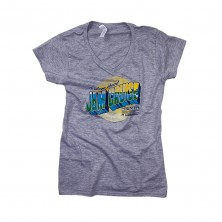 Women's Postcard T-Shirt on Gray